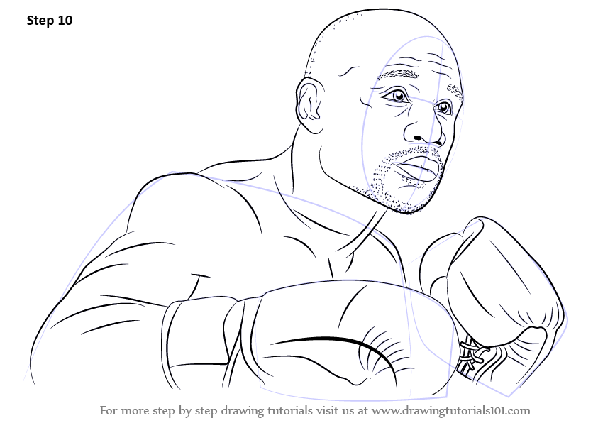 Learn How To Draw Floyd Mayweather Boxers Step By Step