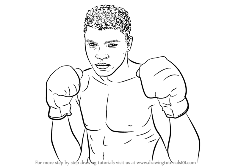 Line Drawing Of Quaid E Azam : Learn how to draw muhammad ali boxers step by