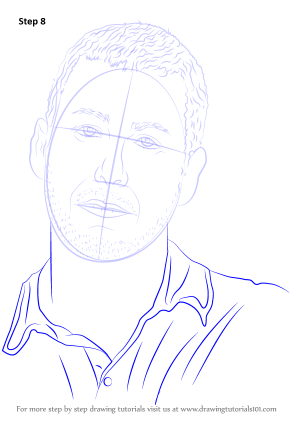 Step By Step How To Draw Adam Sandler