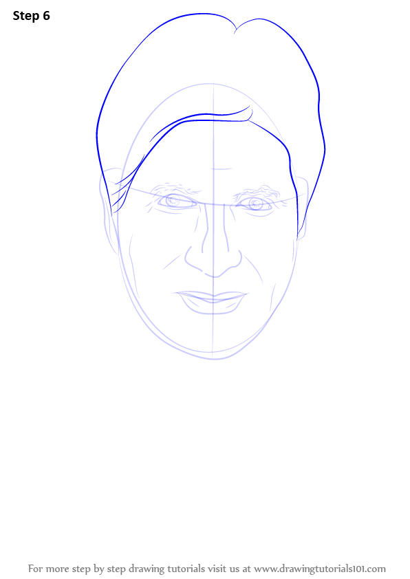 Step By Step How To Draw Amitabh Bachchan