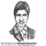How to Draw Amitabh Bachchan