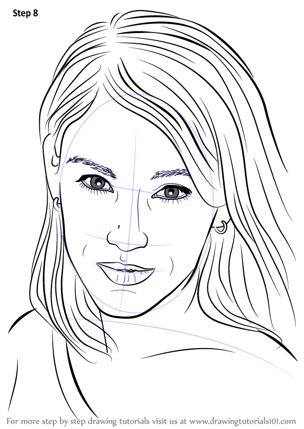 Learn How To Draw Amy Jo Johnson Celebrities Step By