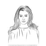 How to Draw Anne Hathaway