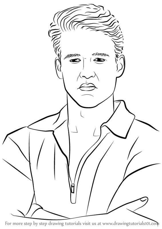 Learn How To Draw Austin St John Celebrities Step By