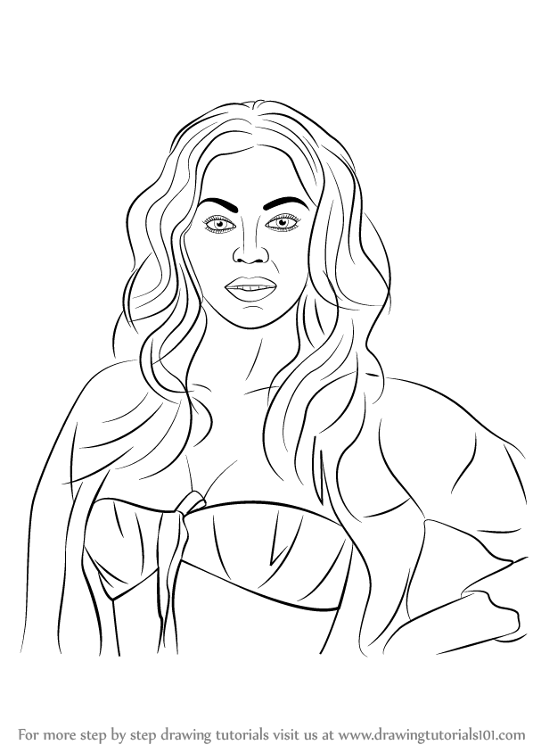 beyonce drawing step by step - photo #16