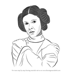 How to Draw Carrie Fisher