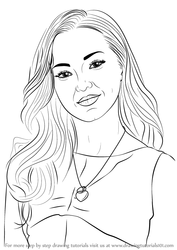 dove cameron coloring pages step by step how to draw dove cameron