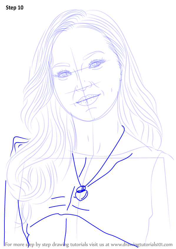 Learn how to draw dove cameron celebrities step by step for Dove cameron coloring pages