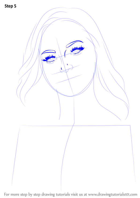 Step By Step How To Draw Dove Cameron