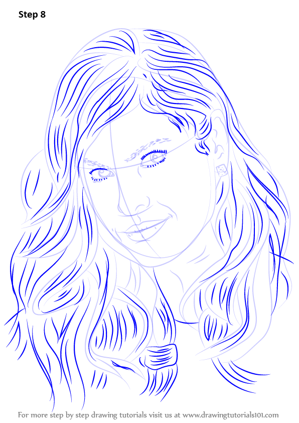 learn how to draw eva mendes celebrities step by step