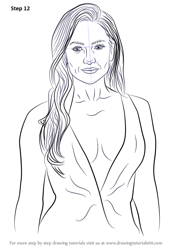 Learn How To Draw Jennifer Lopez Celebrities Step By