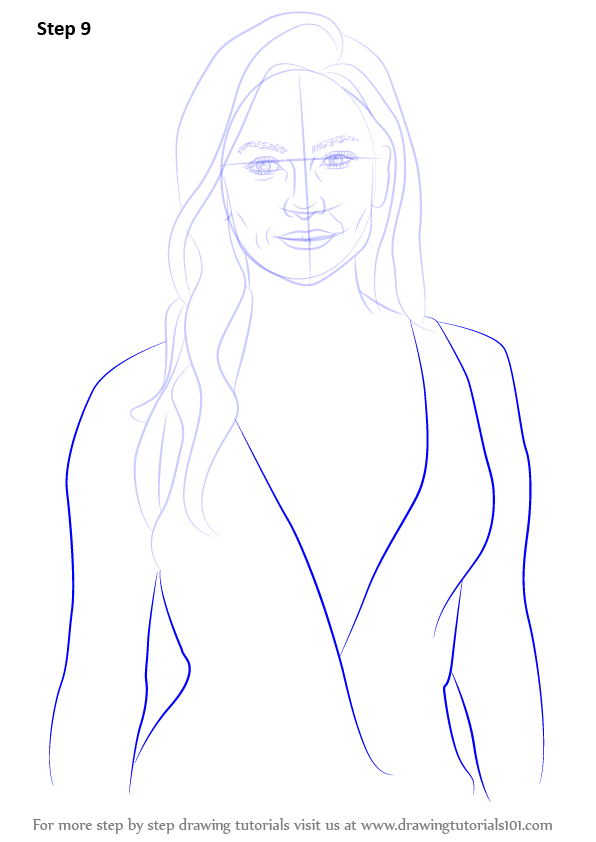 Learn How To Draw Jennifer Lopez Celebrities Step By Step Drawing Tutorials