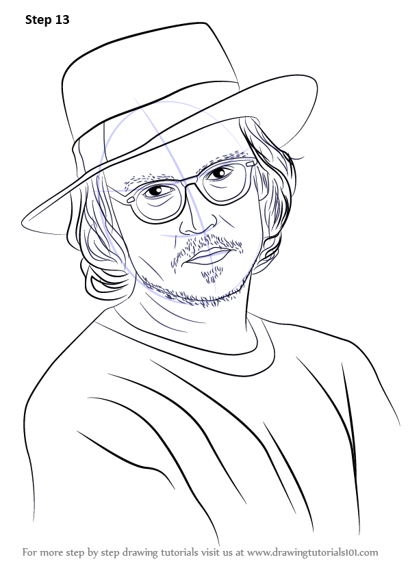 Learn How To Draw Johnny Depp Celebrities Step By Step