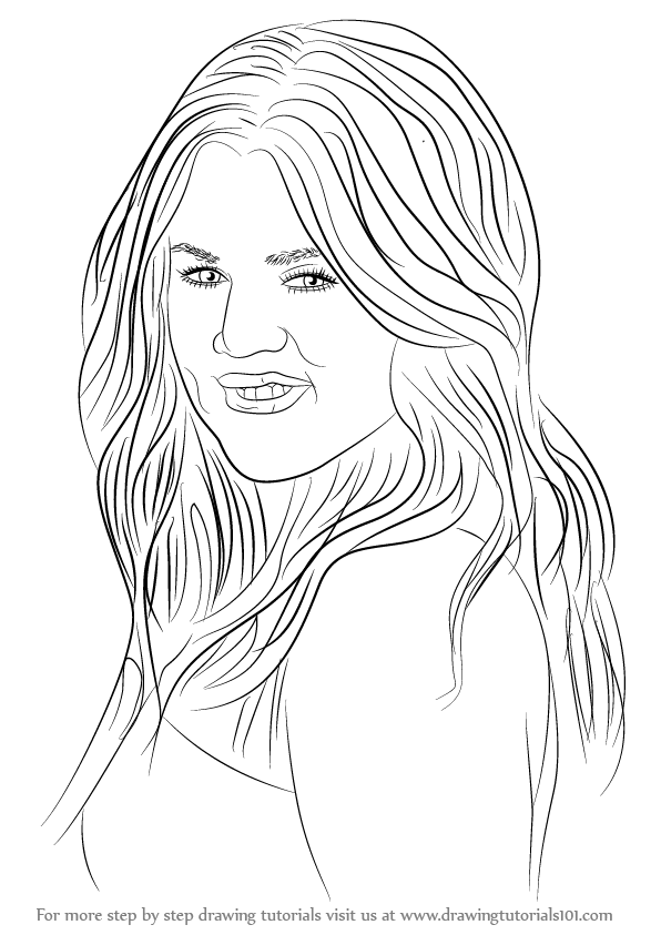 Step By Step How To Draw Khloe Kardashian