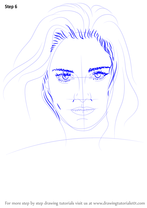 learn how to draw kristen stewart  celebrities  step by