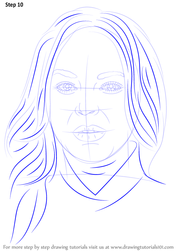 Step By Step How To Draw Lindsay Lohan