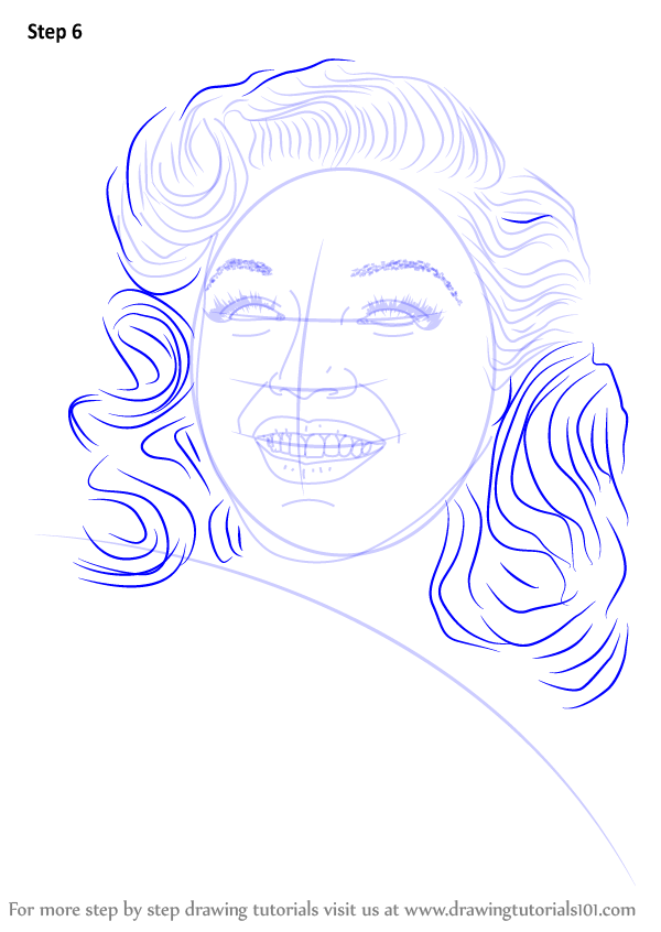Step By Step How To Draw Marilyn Monroe