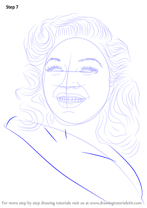 How To Draw Marilyn Monroe Step By Step Pictures