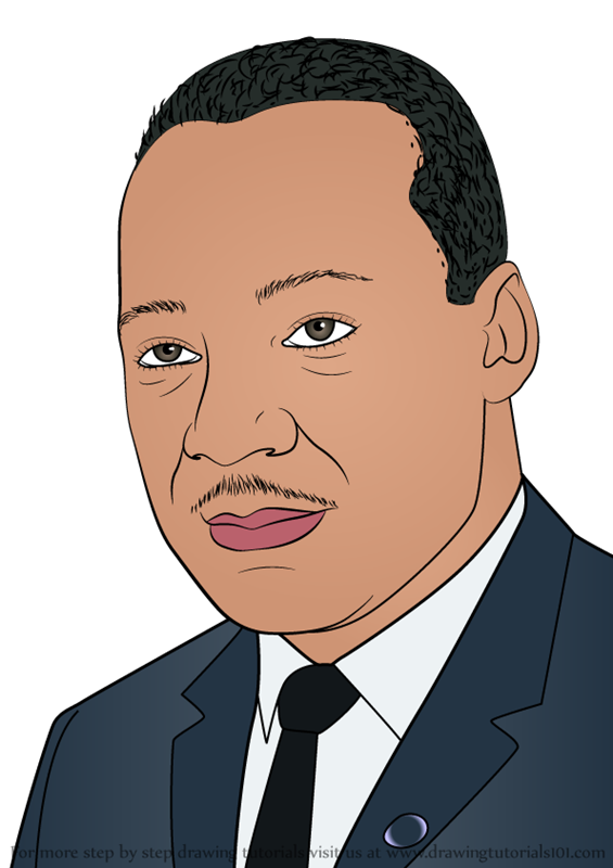 Martin Luther King Jr Drawing Outline