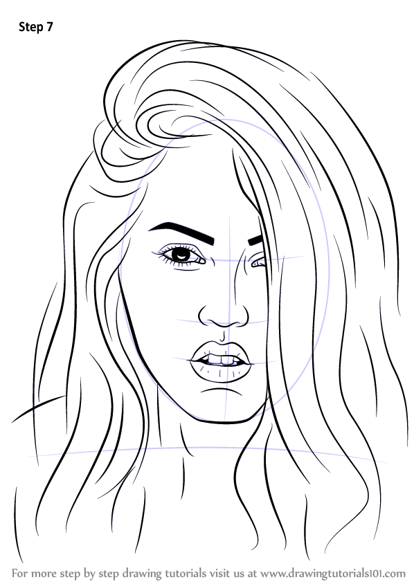 Learn How to Draw Megan Fox Celebrities
