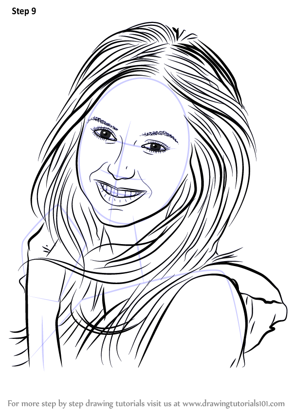 Learn How To Draw Nina Dobrev Celebrities Step By Step