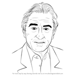How to Draw Robert De Niro