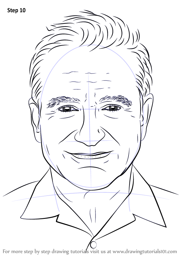 Learn How To Draw Robin Williams Celebrities Step By
