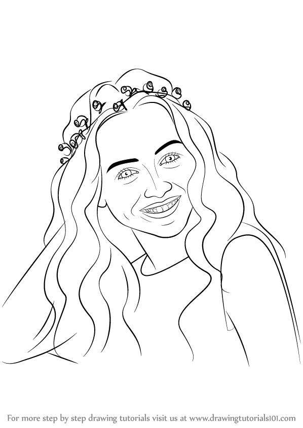 Step by Step How to Draw Sabrina Carpenter