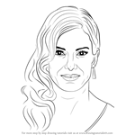 How to Draw Sandra Bullock