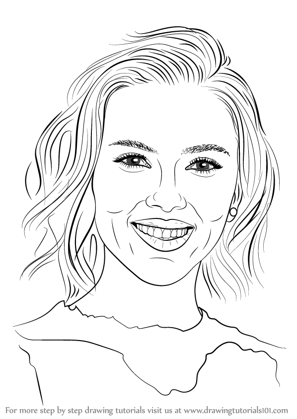 shahrukh khan coloring pages | Learn How to Draw Scarlett Johansson (Celebrities) Step by ...
