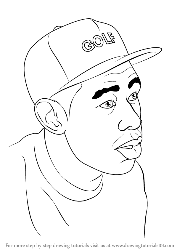 Learn How To Draw Tyler The Creator Celebrities Step By
