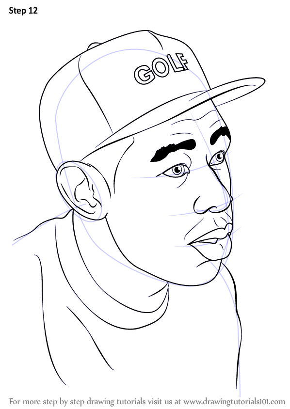 Step By Drawing Tutorial On How To Draw Tyler The Creator