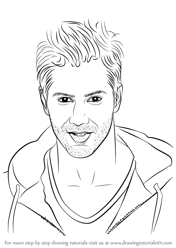 To draw varun dhawan celebrities step by step drawing tutorials