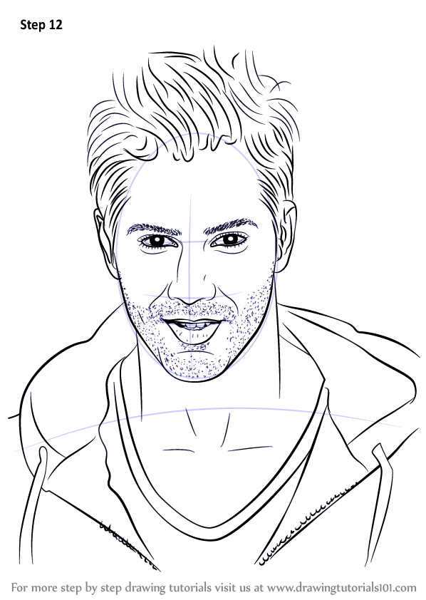 How Varun (Celebrities) Dhawan to Step  Draw Step Learn by