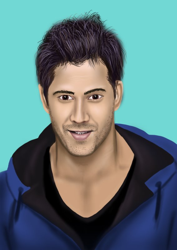 Learn How To Draw Varun Dhawan (Celebrities) Step By Step  Drawing Tutorials