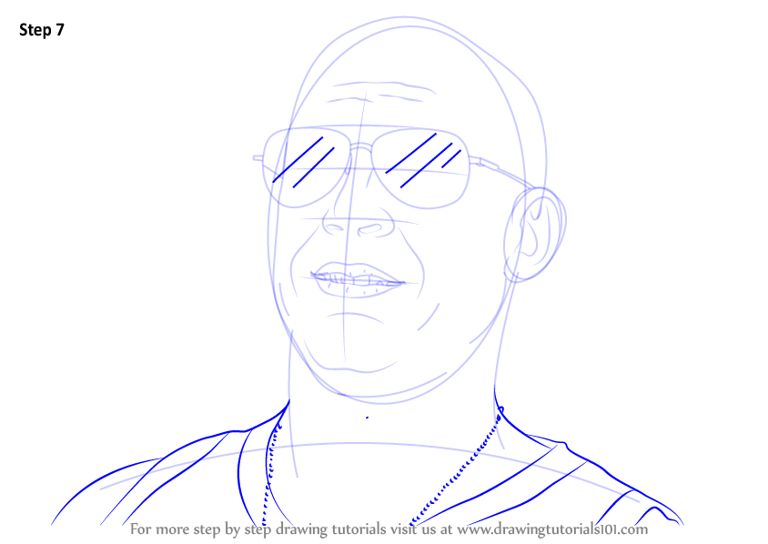 Step By Step How To Draw Vin Diesel Drawingtutorials101 Com