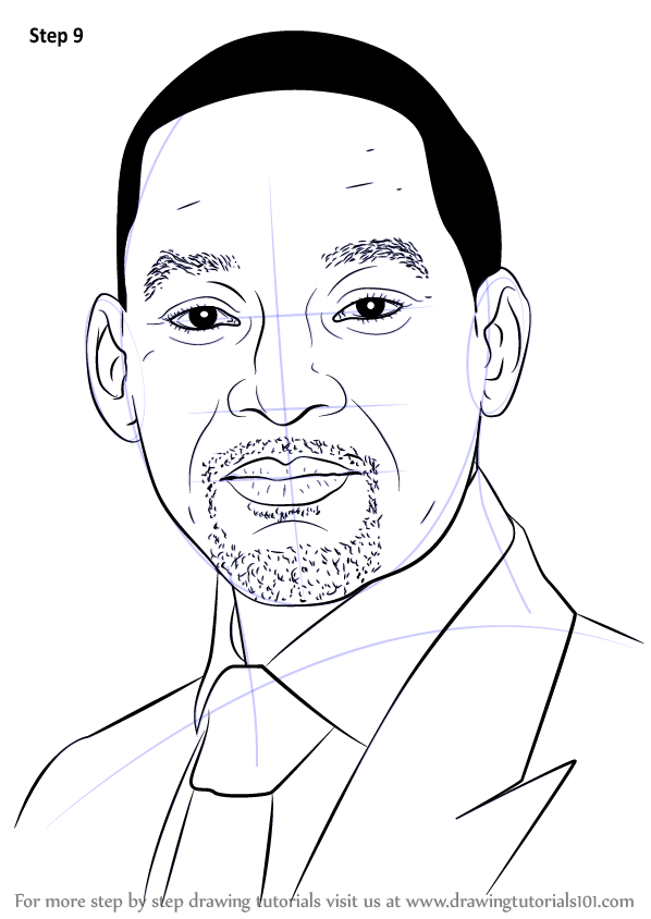 Easy Bedroom Drawings: Learn How To Draw Will Smith (Celebrities) Step By Step