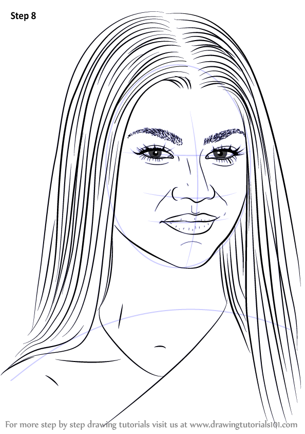Step by Step How to Draw Zendaya