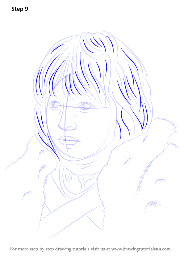 learn how to draw bran stark  characters  step by step   drawing tutorials