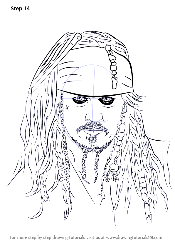 Step By Step How To Draw Captain Jack Sparrow