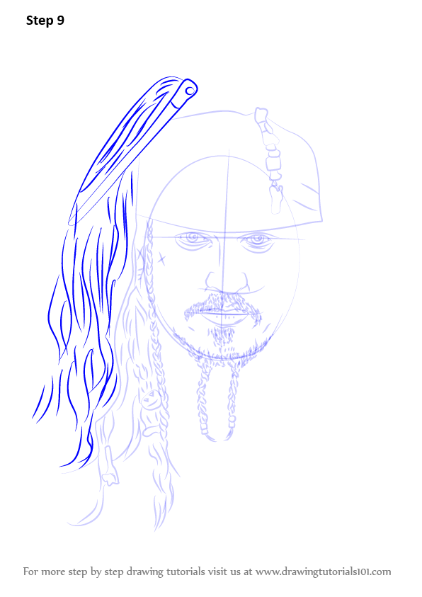Step by Step How to Draw Captain Jack Sparrow ...