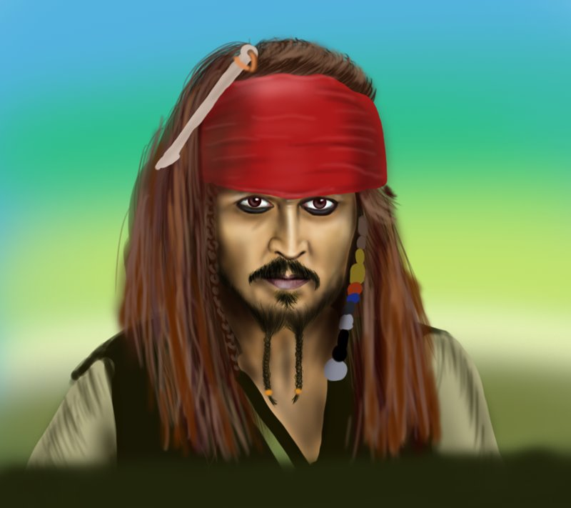 Learn How To Draw Captain Jack Sparrow Characters Step By