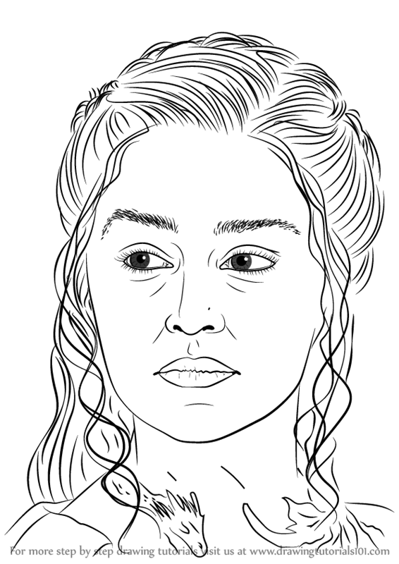 Learn How To Draw Daenerys Targaryen Characters Step By