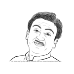 How to Draw Dilip Joshi aka Jethalal