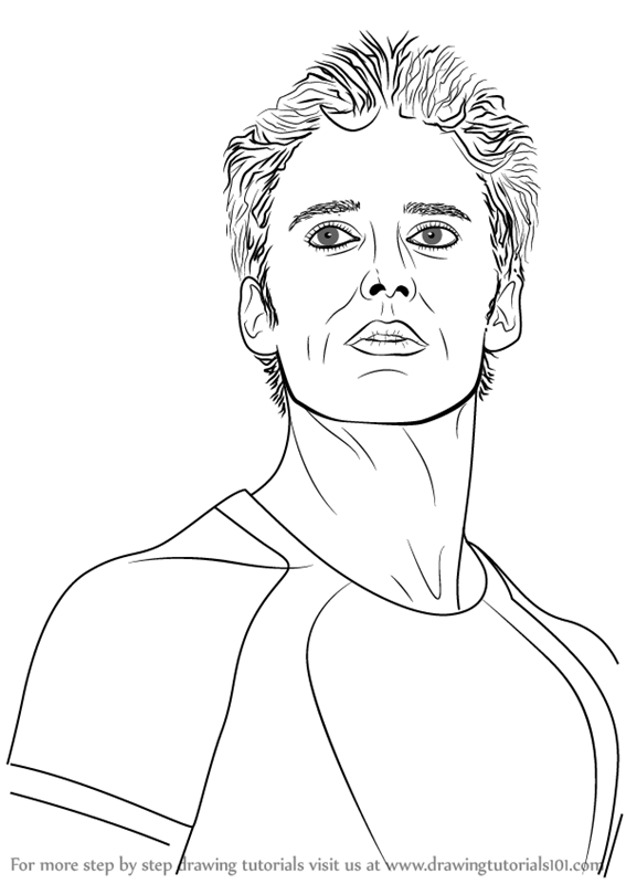 Learn How To Draw Finnick Odair From The Hunger Games Characters
