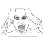 How to Draw Jared Leto as The Joker from Suicide Squad