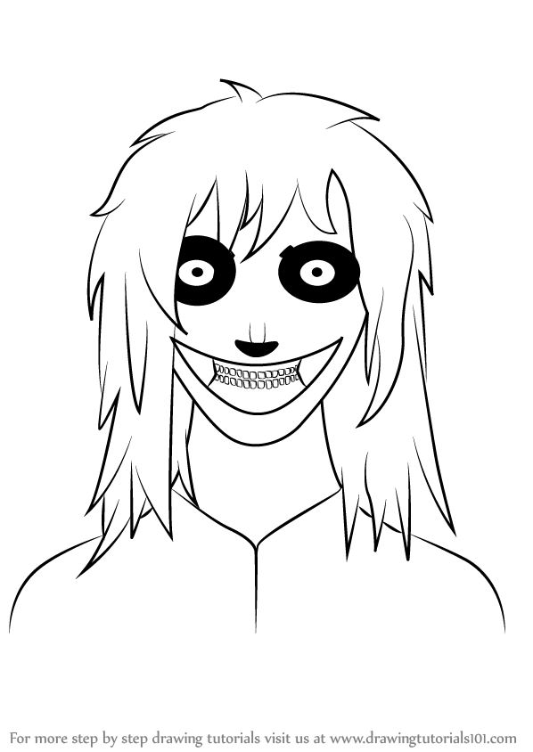 learn how to draw jeff the killer characters step by step