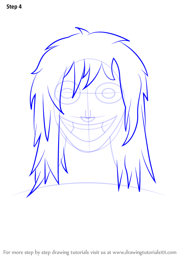 learn how to draw jeff the killer  characters  step by step   drawing tutorials
