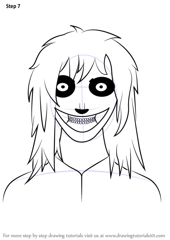 Learn How to Draw Jeff the Killer (Characters) Step by ...