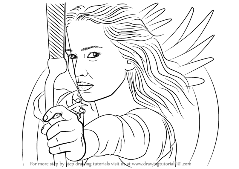 Learn How to Draw Katniss Everdeen with Bow and Arrow
